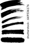 vector abstract brush stroke... | Shutterstock .eps vector #669536176