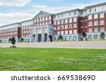 hall building in college | Shutterstock . vector #669538690