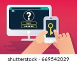 multi factor authentication or... | Shutterstock .eps vector #669542029