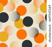 seamless retro pattern with dots | Shutterstock .eps vector #669545269