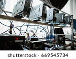 computer with graphic cards for ... | Shutterstock . vector #669545734