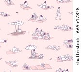 seamless pattern   background   ... | Shutterstock .eps vector #669547828