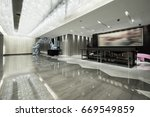 hotel lobby interior with... | Shutterstock . vector #669549859