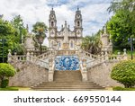 azulejo decorated stairway to...   Shutterstock . vector #669550144