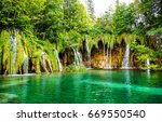 Waterfall Nature Green Lake...