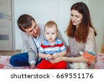 happy family  mother  father... | Shutterstock . vector #669551176