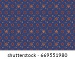 seamless pattern with many... | Shutterstock . vector #669551980
