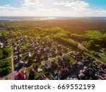 Panorama Aerial View Shot On...