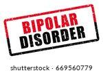 bipolar disorder diagnosis. red ... | Shutterstock .eps vector #669560779