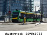 Small photo of MODERN AGGLOMERATION - Modern public transport in a large city of Poznan