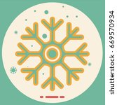 icon of cold sign depicting... | Shutterstock .eps vector #669570934