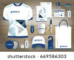 gift items business corporate... | Shutterstock .eps vector #669586303