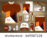 gift items business corporate... | Shutterstock .eps vector #669587128