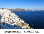 village of oia   island of... | Shutterstock . vector #669588733