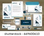 vector abstract stationery... | Shutterstock .eps vector #669600610