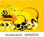skull grunge background | Shutterstock .eps vector #66960523
