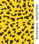 texture of print fabric leopard ... | Shutterstock . vector #669607306