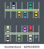 parking place with cars. top... | Shutterstock .eps vector #669618403