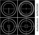 crosshair  reticle  viewfinder  ... | Shutterstock .eps vector #669623260