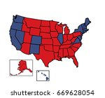 general electoral map of 50... | Shutterstock .eps vector #669628054
