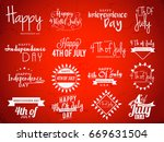 4th of july independence day... | Shutterstock .eps vector #669631504
