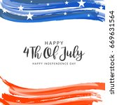 happy 4th of july usa...   Shutterstock .eps vector #669631564