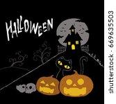 halloween | Shutterstock . vector #669635503