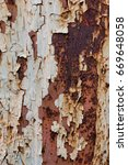rusted white painted metal wall.... | Shutterstock . vector #669648058