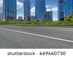 clean urban road with modern... | Shutterstock . vector #669660730