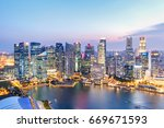 landscape of the singapore... | Shutterstock . vector #669671593