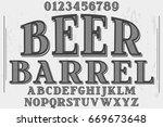 font.script.typeface.vector.old ... | Shutterstock .eps vector #669673648