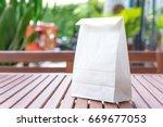 blank white paper bag for... | Shutterstock . vector #669677053