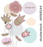 cute flower background. vector... | Shutterstock .eps vector #66968164