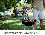 close up of a barbecue grill... | Shutterstock . vector #669685738