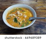 tom yum kai  thai style chicken ... | Shutterstock . vector #669689389