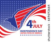 fourth july independence day... | Shutterstock .eps vector #669693664