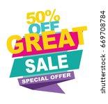 great sale banner. vector... | Shutterstock .eps vector #669708784