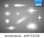 sparkles and flares on... | Shutterstock .eps vector #669715120