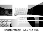 abstract dynamic interior with... | Shutterstock . vector #669715456