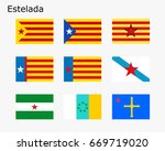 flags with estelada. the flags...   Shutterstock .eps vector #669719020