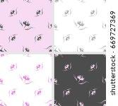 set of seamless pattern of... | Shutterstock .eps vector #669727369