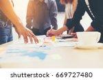 business people meeting... | Shutterstock . vector #669727480