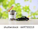 money saving for new car ...   Shutterstock . vector #669733213