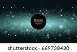 abstract futuristic background. ... | Shutterstock .eps vector #669738430