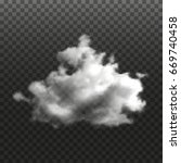 realistic cloud on transparent... | Shutterstock .eps vector #669740458