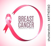 breast cancer campaign graphic... | Shutterstock .eps vector #669740560
