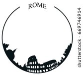 isolated rome skyline on a... | Shutterstock .eps vector #669746914