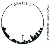 isolated seattle skyline on a... | Shutterstock .eps vector #669746920