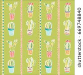 vector seamless pattern with... | Shutterstock .eps vector #669748840
