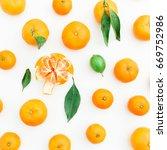 mandarin. white background.... | Shutterstock . vector #669752986
